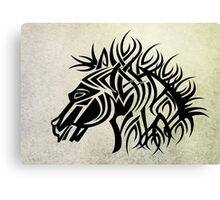 Tribal Horse Cool Vector T-Shirt and Stickers Canvas Print