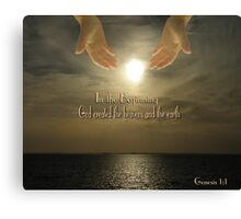 In The Beginning - Genesis 1:1 Canvas Print