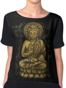 Zen Gold, Buddha 1 Chiffon Top