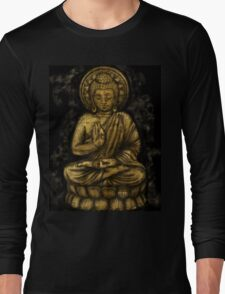 Zen Gold, Buddha 1 Long Sleeve T-Shirt