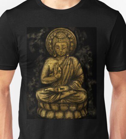 Zen Gold, Buddha 1 Unisex T-Shirt
