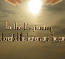 In The Beginning - Genesis 1:1 Sticker