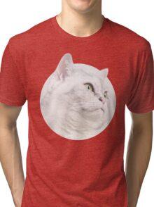 Silver Cat, Look Forward Tri-blend T-Shirt
