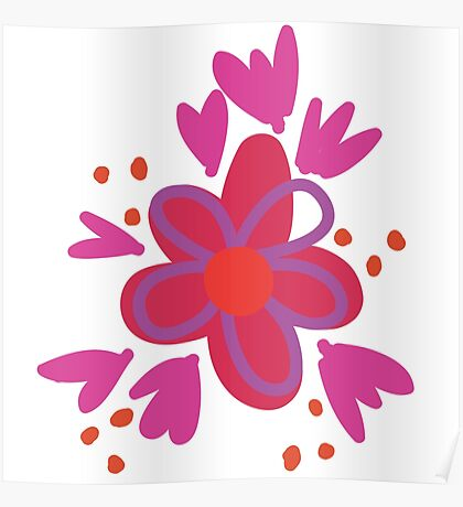Graffiti Flowers Poster