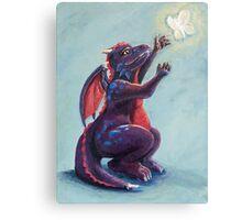 Dragon Chasing Fairy Canvas Print