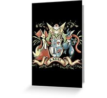 kalos coat of arms Greeting Card