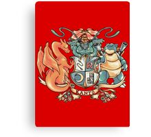 kanto coat of arms Canvas Print