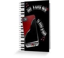 Piano Note Card Greeting Card