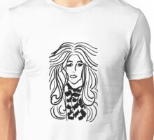Lady with Wavy hair Unisex T-Shirt
