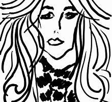 Lady with Wavy hair by bevy111