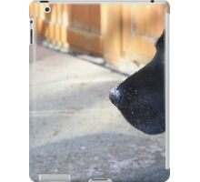 Black Lab In The Snow iPad Case/Skin