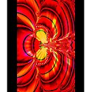 Red Fractal Wings (iPhone Case) by judygal