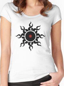 Retro Vinyl Records - Vinyl Sunrise - Modern Cool Vector Music T-Shirt DJ Design Women's Fitted Scoop T-Shirt