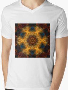 Fractal snowflake Mens V-Neck T-Shirt