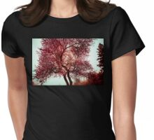 Cherry Blossom Swirl Womens Fitted T-Shirt