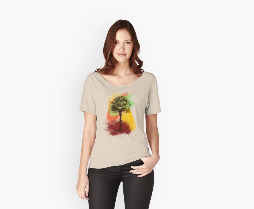 Grunge Palm Tree T-Shirt - Art Prints - Stickers Notebooks by Denis Marsili
