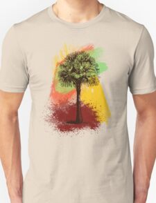 Grunge Palm Tree T-Shirt - Art Prints - Stickers Notebooks Unisex T-Shirt