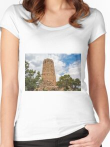 Old stone tower at the Grand Canyon Women's Fitted Scoop T-Shirt