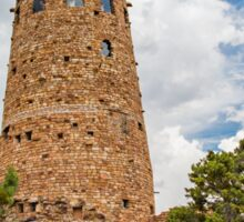Old stone tower at the Grand Canyon Sticker
