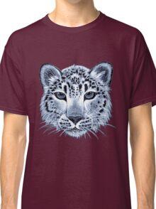 Snow leopard acrylic painting Classic T-Shirt