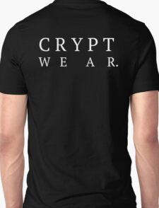 CRYPT WEAR - Serif - LARGE BACK Unisex T-Shirt