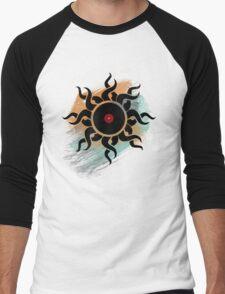 Love Vinyl Records - Music Art Prints with Grunge Texture - T-Shirt and Stickers Men's Baseball ¾ T-Shirt