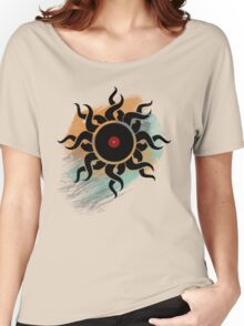 Love Vinyl Records - Music Art Prints with Grunge Texture - T-Shirt and Stickers Women's Relaxed Fit T-Shirt