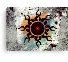 Love Vinyl Records - Music Art Prints with Grunge Texture - T-Shirt and Stickers Canvas Print
