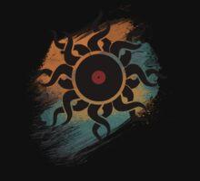 Retro Vinyl Records - Vinyl With Paint - Music DJ Design One Piece - Long Sleeve