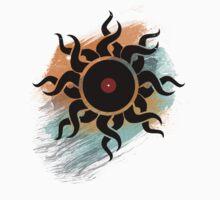 Retro Vinyl Records - Vinyl With Paint - Music DJ Design Baby Tee