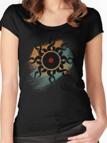 Retro Vinyl Records - Vinyl With Paint - Music DJ Design Women's Fitted Scoop T-Shirt