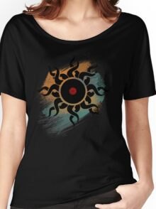 Retro Vinyl Records - Vinyl With Paint - Music DJ Design Women's Relaxed Fit T-Shirt