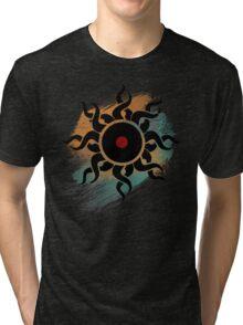 Retro Vinyl Records - Vinyl With Paint - Music DJ Design Tri-blend T-Shirt