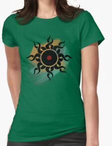 Retro Vinyl Records - Vinyl With Paint - Music DJ Design Womens Fitted T-Shirt