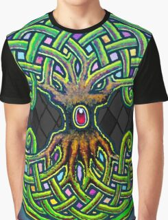 Yggdrasil Celtic Viking World Tree of Life color Graphic T-Shirt