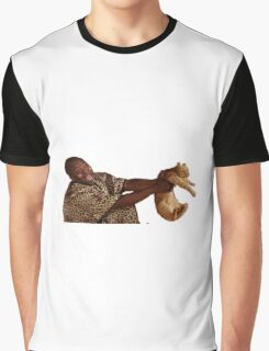 Man with Cat Graphic T-Shirt