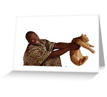Man with Cat Greeting Card