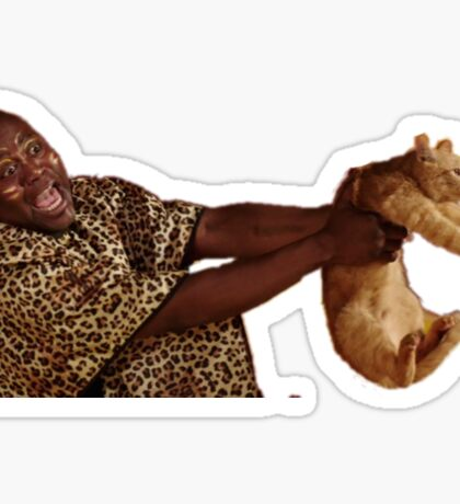 Man with Cat Sticker