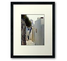 Santorini Steps Framed Print