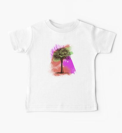 Grunge Palm Tree Summer T-Shirt Baby Tee