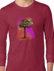 Grunge Palm Tree Summer T-Shirt Long Sleeve T-Shirt