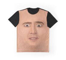 Creepy Cage Face Graphic T-Shirt