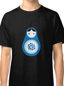 Matrioshka doll blue and white Classic T-Shirt