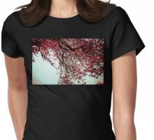 Cherry Blossom reaches out Womens Fitted T-Shirt