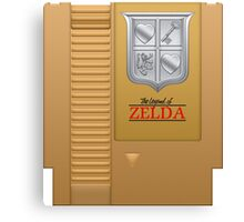 The Legend of Zelda Gold NES Cartridge Retro Gaming Canvas Print