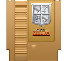 The Legend of Zelda Gold NES Cartridge Retro Gaming Photographic Print