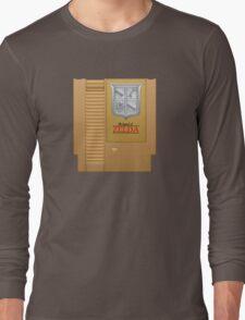 The Legend of Zelda Gold NES Cartridge Retro Gaming Long Sleeve T-Shirt