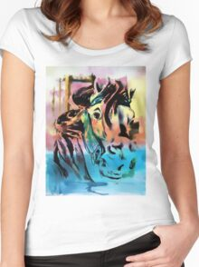 Carousel Horse Women's Fitted Scoop T-Shirt