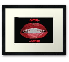 Rocky Horror Lips Framed Print