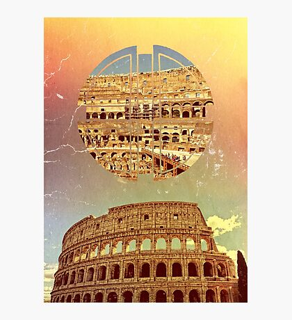 Geometric Colosseum Rome Italy Historical Monument Photographic Print
